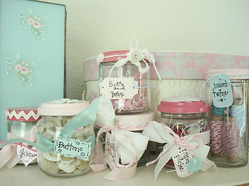 Decorative storage jars