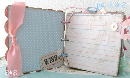 Pink altered book page 1-2