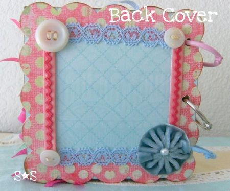 Pink altered book back cover