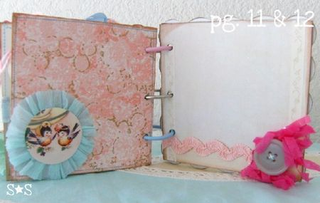 Pink altered book page 11-12